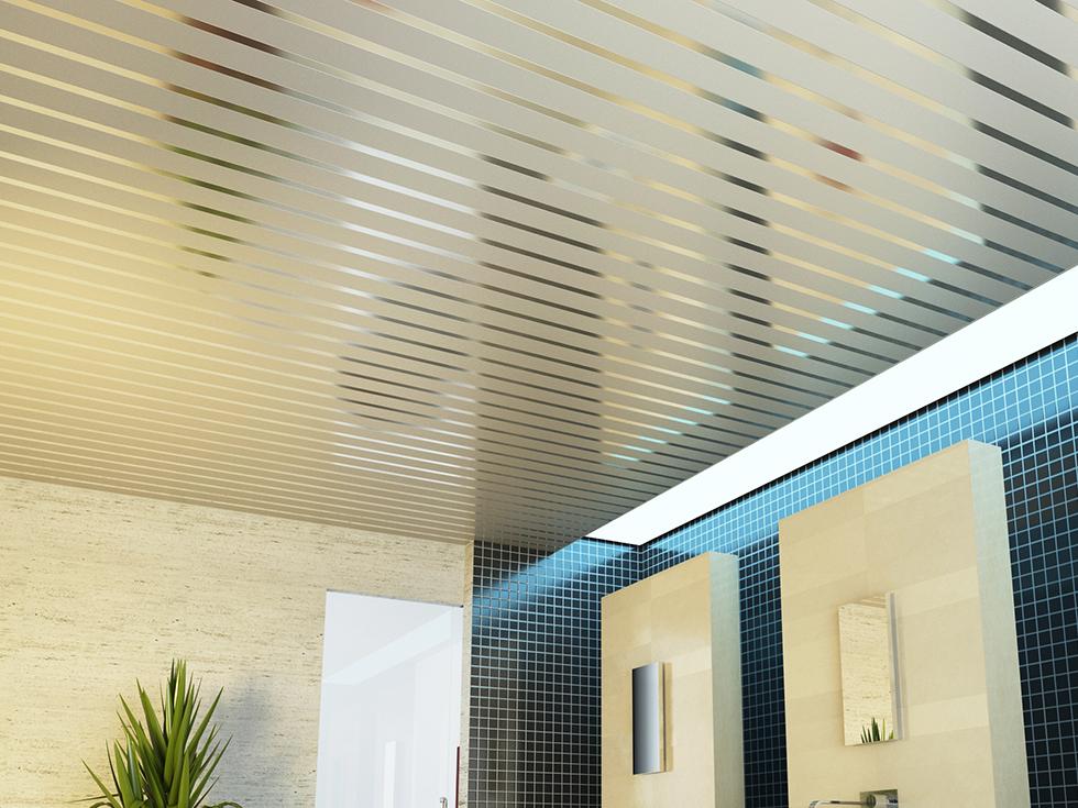 Реечный потолок 165 мм со вставкой 35 мм