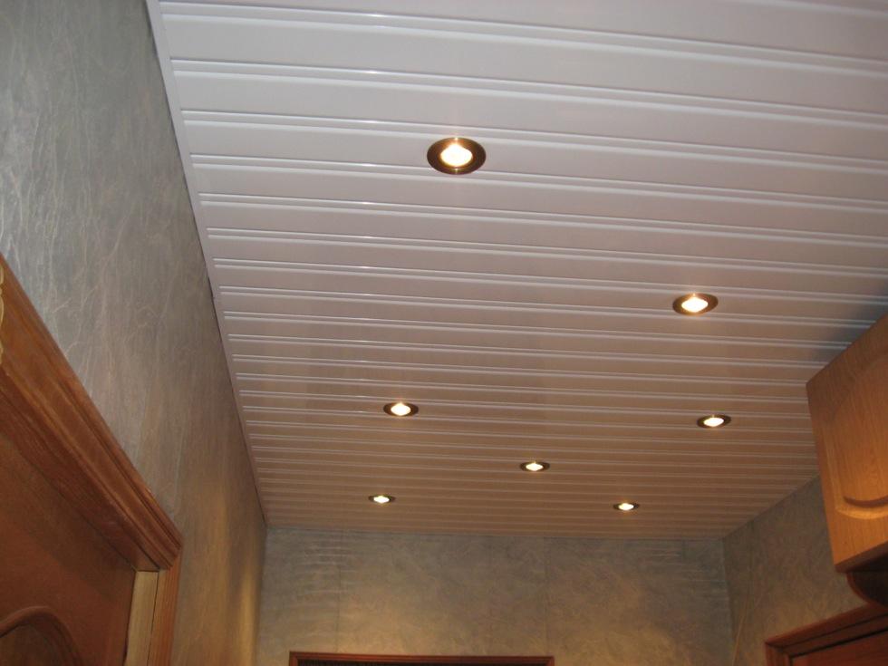 Реечный потолок 84 мм со вставкой 16 мм